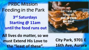 PRBC Feeding in the Park @ City Park of Aurora | Aurora | Colorado | United States