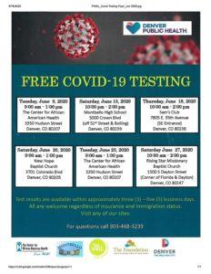 Free COVID-19 Testing